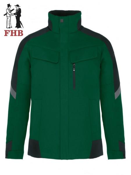 Winterarbeitsjacke Lars grün-schwarz
