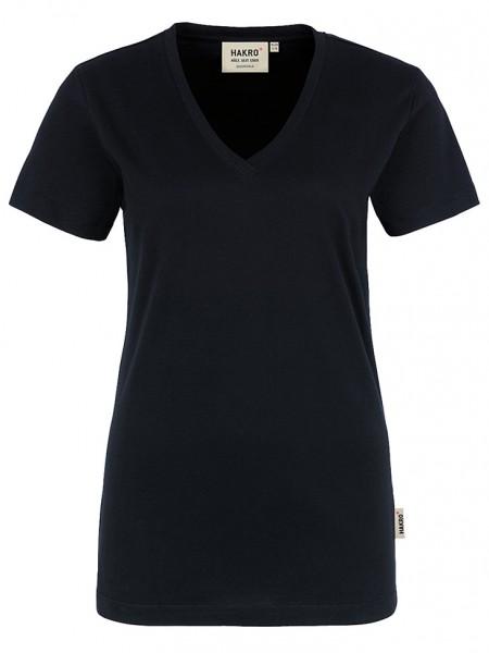 Damen V-Shirt Classic 126 Schwarz
