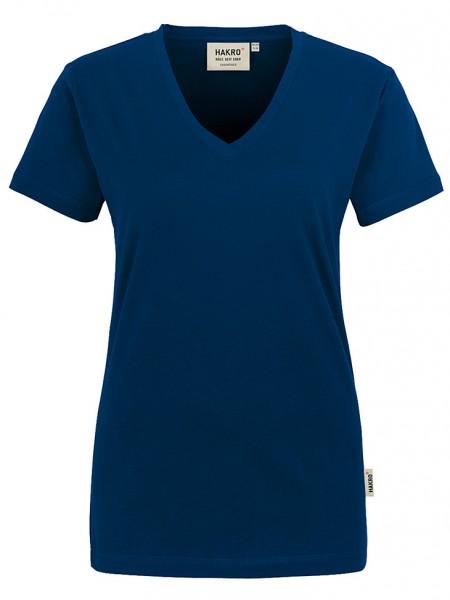 Damen V-Shirt Classic 126 Marine
