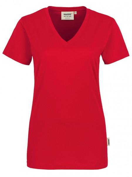 Damen V-Shirt Classic 126 Rot