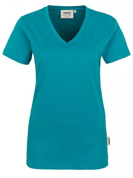 Damen V-Shirt Classic 126 Smaragd
