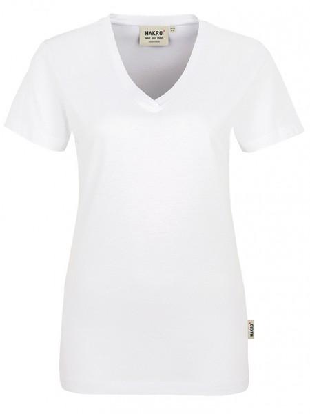 Damen V-Shirt Classic 126 Weiss