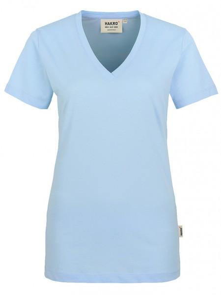 Damen V-Shirt Classic 126 Eisblau