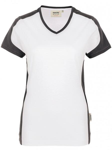 Damen V Shirt Contrast 190