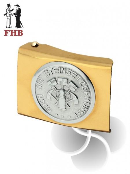 Koppelschloss Steinsetzer gold