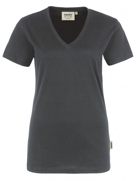 Damen V-Shirt Classic 126 Anthrazit