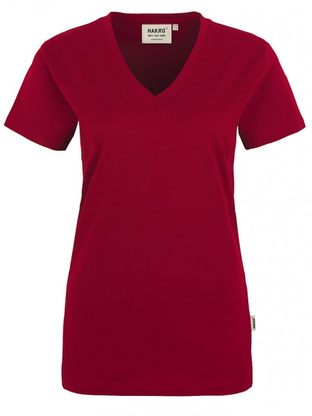 Damen V-Shirt Classic 126 Weinrot