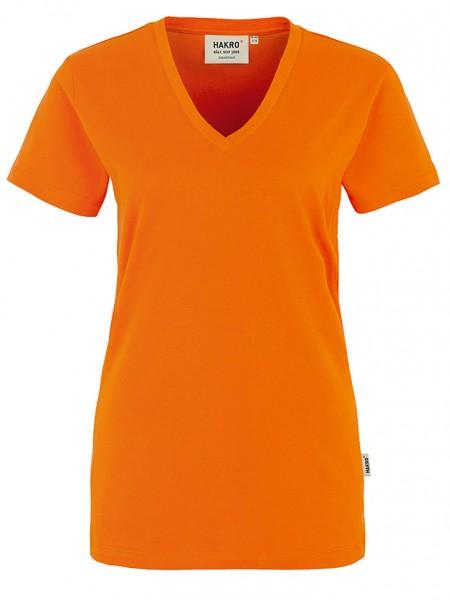Damen V-Shirt Classic 126 Orange